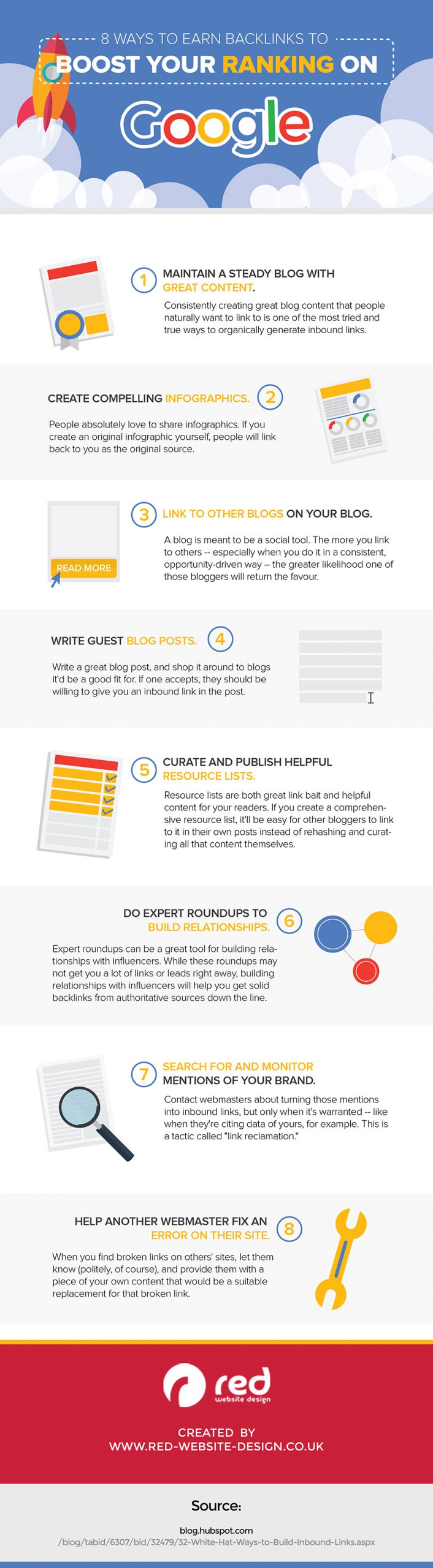 Infographic on SEO search techniques.